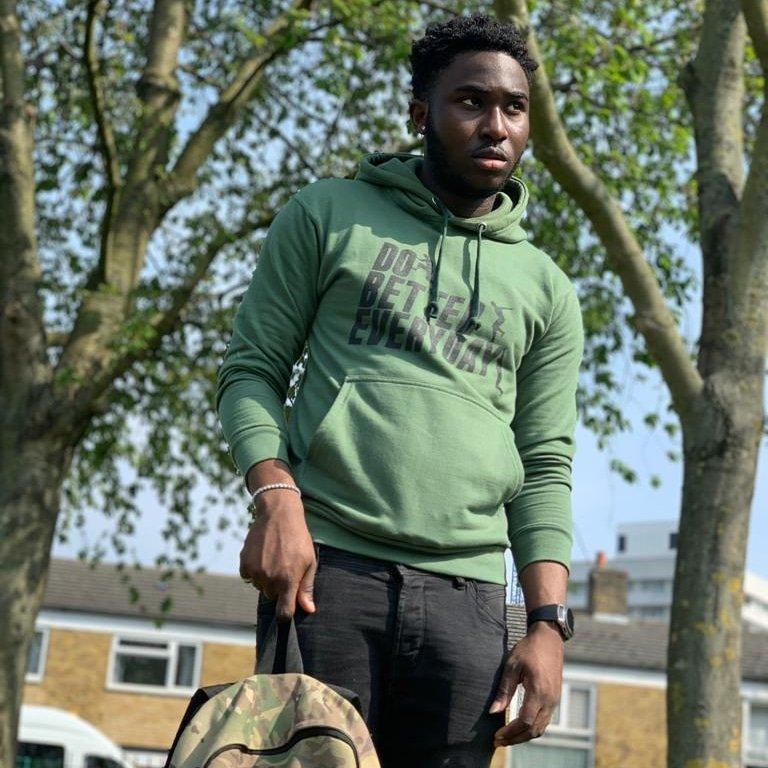 DBE green hoodie