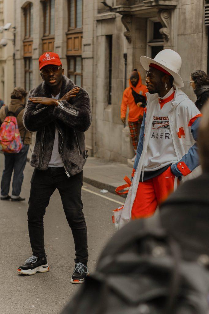 Photo by Yossy Akinsanya of dancers on the street