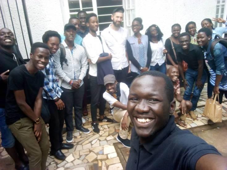 Kelele at Makerere team