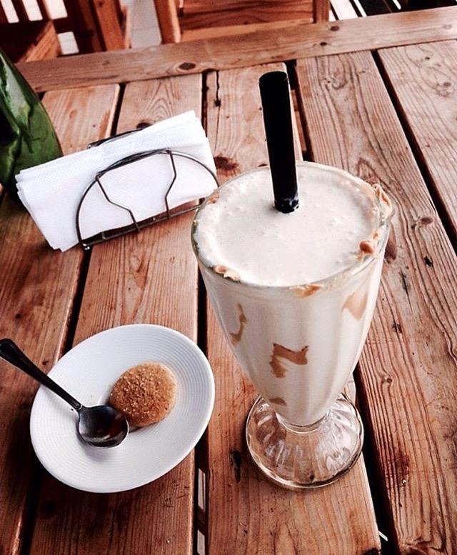 Christen Atim -fave food picture of peanut butter milkshake